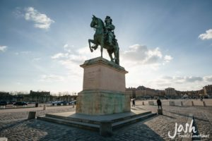 French king statue in France